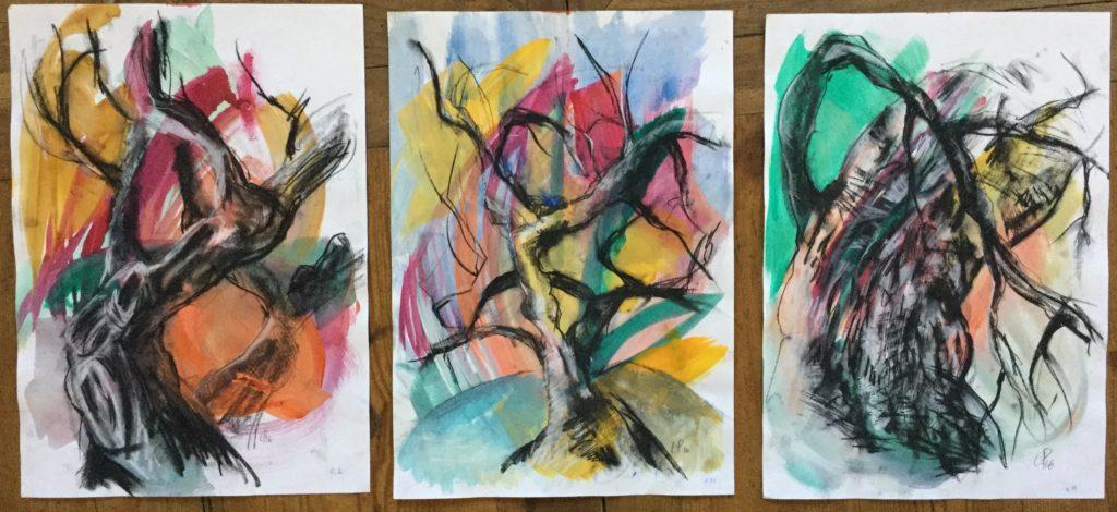 les 3 danses arbres