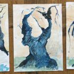 les 3 arbres bleus